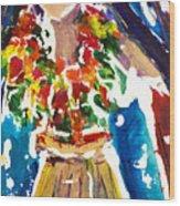 Dancing Hula Wood Print