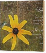 Dancing In The Rain Print Wood Print