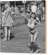 Dancing In The Street Wood Print