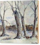 Dancing in Winter Wood Print