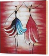Dancing Lady Wood Print