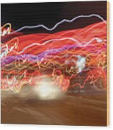 Dancing Light Streaks-2 Wood Print