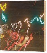 Dancing Light Streaks Wood Print