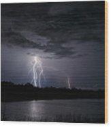 Dancing Man Lightning Wood Print