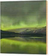 Dancing Northern Lights Wood Print