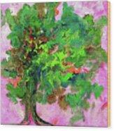 Dancing Oak Wood Print
