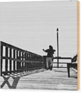 Dancing On The Pier Wood Print