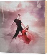 A Passionate Pair Dance In The Middle Of Nowhere, Who Embody The Strength And Subtlety Wood Print