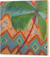Dancing Palm Wood Print