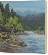 Dancing River Wood Print