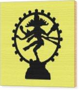 Dancing Shiva Wood Print