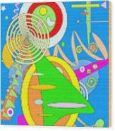 Dancing Spirals 2 Wood Print
