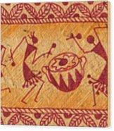 Dancing Warlis Wood Print