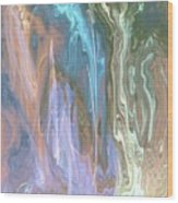Dancing Waterfall From Heaven Wood Print