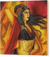 Dancing with Fire Wood Print