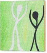 Dancing With My Shadow Wood Print
