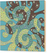 Dancing With Octopus Wood Print