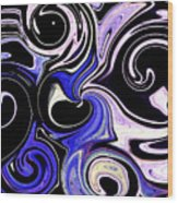 Dancing With The Swans Abstract Wood Print
