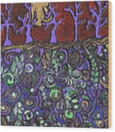 Dancing With The Trees Wood Print