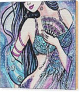 Dancing With The Waves Wood Print