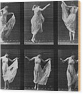 Dancing Woman Wood Print