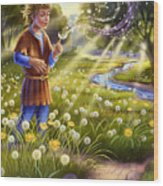 Dandelion - Make A Wish Wood Print by Anne Wertheim