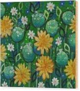 Dandelions In People's Park Wood Print