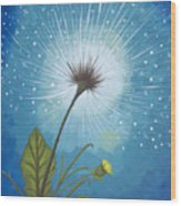 Dandy Dandelion Wood Print