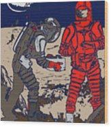 Danger In Deep Space Wood Print