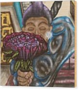 Dangerous Flowers Wood Print