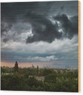 Dangerous Stormy Clouds Over Warsaw Wood Print