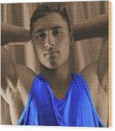 Daniel Blue Shirt Wood Print