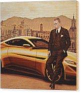Daniel Craig As James Bond Wood Print