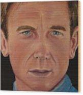 Daniel Craig Oil Painting Wood Print