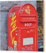 Danish Mailbox Wood Print