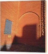 Danish Orange And Shadows  Copenhagen Denmark Wood Print