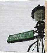 Danish Toilet Sign Wood Print