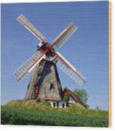 Danish Windmill Wood Print