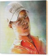 Danny Willett In The Madrid Masters Wood Print