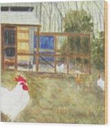 Dan's Chickens Wood Print
