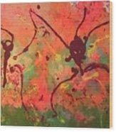 Dansing Ant's Wood Print