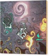Dantes Inferno Wood Print