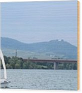 Danube River Sailor Wood Print