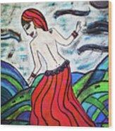 Danza De Mar Y Luna Wood Print