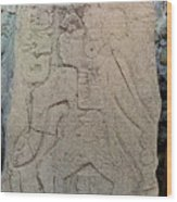 Danzantes Stone Carving Wood Print