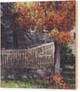 Dappled Fence Wood Print