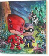 Funkos Daredevil And The Phantom In The Jungle Wood Print