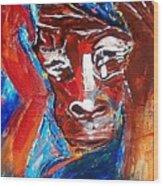 Darfur - She Cries Wood Print