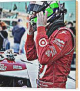 Dario Franchitti  Wood Print