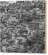 Darjeeling Monochrome Wood Print